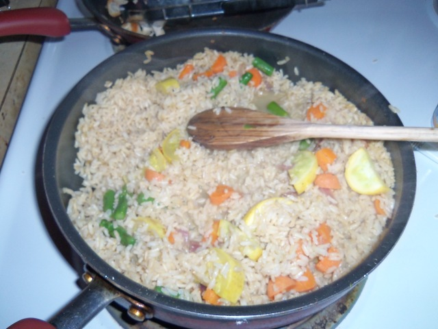 Risotto in the pot.. So much = Yummy leftovers